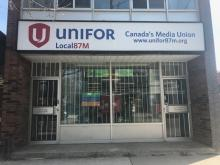 Unifor Local 87-M's current headquarters at 1253 Queen St. E. The Local is looking for a new home outside of the city core.
